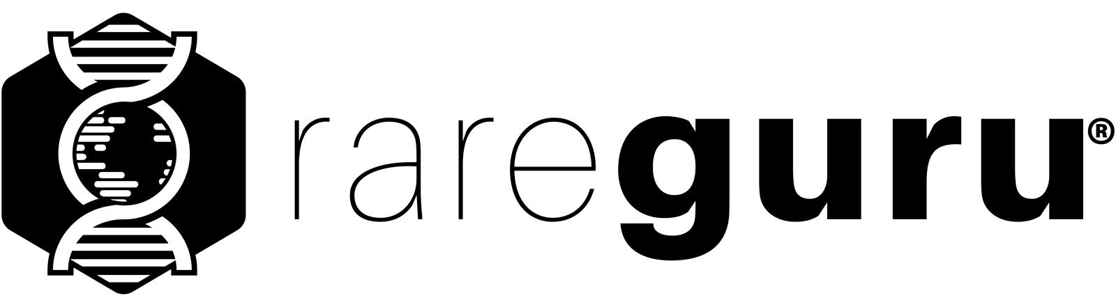 RareGuru Monochrome Black Logo